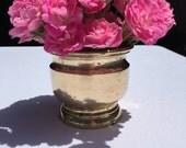 Heavy Brass Cachepot - Planter - Vase