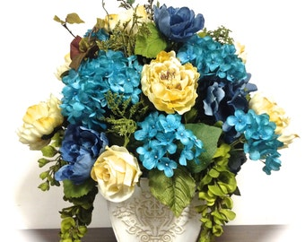 REQUEST CUSTOM ORDERS for Silk Floral Arrangements Floral Centerpiece - All sizes, styles etc. Price will vary! 95.00 and up!