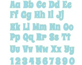 Anndy Monogram applique Font machine embroidery applique designs, monogram, alphabet - Upper, lower letters and numbers INSTANT DOWNLOAD