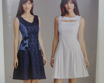 Dress Pattern, Simplicity SO372, Sleeveless Dress, Short Sleeve Dress, Summer Dress Pattern, SZ 6 through 14, Uncut