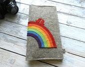 Long Passport Documents travel Wallet with rainbow