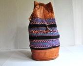 On Reserve for Britt Colorful Woven Boho Festival Rucksack Packpack Large