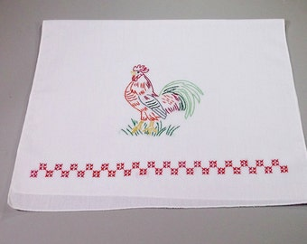Rooster themed kitchen towel