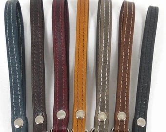 Leather Clutch Strap, Wristlet Strap, Leather Key Fob, Leather Purse Strap, Leather Wrist Strap, Leather Accessories, You Choose