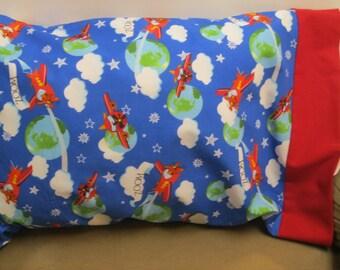 Airplane Pillowcase  Toddler/Travel
