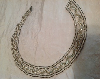 Vintage beaded collar