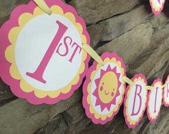 You Are My Sunshine banner, 1st Birthday Banner, Sunshine Banner, Lemonade and Sunshine Birthday, Birthday banner