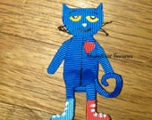 Pete the Cat Bow Hair Clip Sculpture, Pin, or Headband