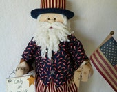 Uncle Sam ~ Patriotic Doll ~ July 4th, Doll 27 Inches Tall ~ TOSCOFG