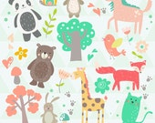 INSTANT DOWNLOAD - Cute Animals Cliparts