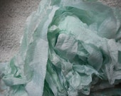 5 Yards MINT SILK SUPREME Hand Dyed Sari Silk Ribbon