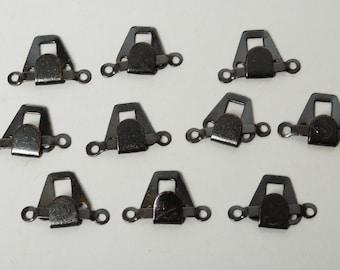 Set of 10 vintage metal hook and eye sets