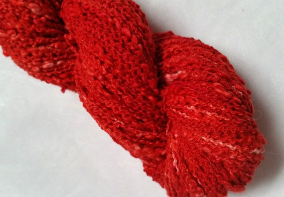 Red Queen Anne's Lace Yarn - hand dyed