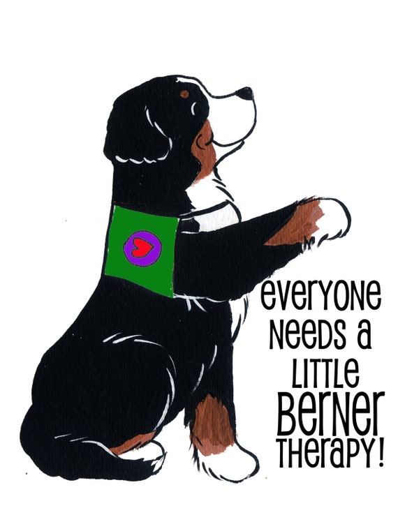 bernese mountain dog therapy shirt you select vest color