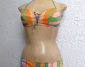 60's Vintage Cole of Ca Striped Swimsuit