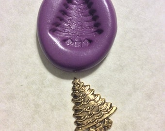 Christmas Tree flexible silicone push mold / craft/ dessert/ mini food/ resin/jewelry and more..