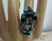 Old Pawn Native American Rainbow Man Kachina Ring