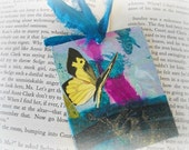 Upcycled bookmarks, OOAK bookmarks, Unique Handmade Butterfly Bookmark Eco Friendly, Painted Bookmark, Art Design, Acrylic Paint Bookmark