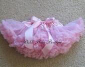 Pink Pettiskirt - 0-9 mo - Baby Girl Tutu - Baby Newborn Infant Petti Skirt - Pink Tutu - Red Purple Hot Pink Orange Mint Blue Yellow Green