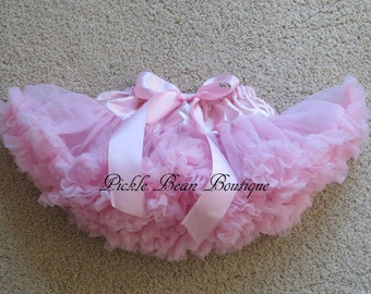 Pink Pettiskirt - 0-9 mo - Baby Girl Tutu - Baby Newborn Infant Petti Skirt - Pink Tutu - Red Purple Hot Pink Orange Mint Blue Yellow Green