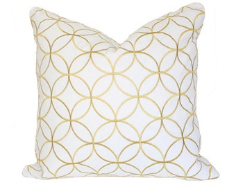 Sungold Lattice Pillow Cover (Single-Sided) - Made-to-Order