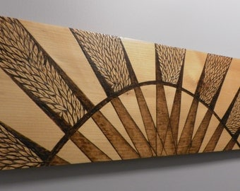 Sunrise, sunset.. a custom made pyrography sign on pine that you and I design