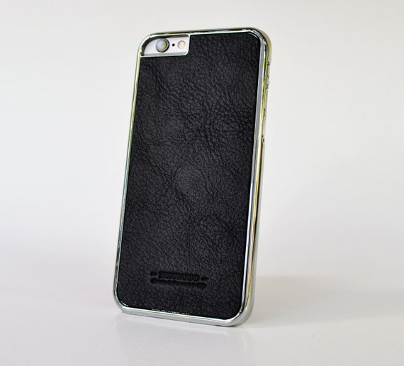 iPhone 6 case- metallized with leather back