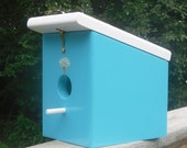 Seaside Mushroom Hanging Birdhouse handmade