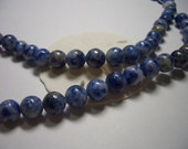 Natural Sodalite beads, round, blue, 6mm beads, full strand, 6mm gemstone, blue, white, Jeans colour, denim, natural beads, 6mm beads