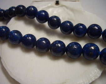 Blue Lapis Lazuli beads, 8mm round beads, natural gemstone beads, 8mm gemstone, dark blue Lapis Lazuli, 8mm gemstone beads, blue, 8mm