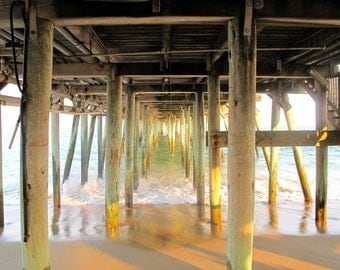 Orchard Beach, Maine - Lover's Names on the Pier