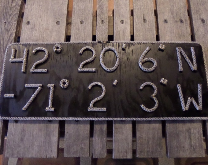 Latitude & Longitude MADE to ORDER Sign Great Gift Personalize This Sign to your Address or Area