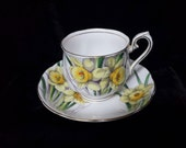 Royal Albert Dafodill Number Three in Flower of the Month SeriesBone China Cup and Saucer