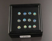 Opal cabs Parcel 10, Twelve 3mm to 3.5mm round Natural Ethiopian Opals