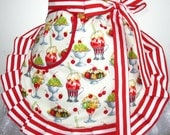Red Cherries and Ice Cream Sundae Apron