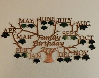 Family Birthday Tree