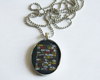 Resin Pendant Necklaces ColdPlay