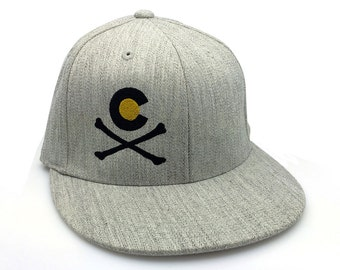 Men's Hat - Colorado Crossbones - Men's/Unisex Embroidered Baseball Cap - Fitted or Snapback Available