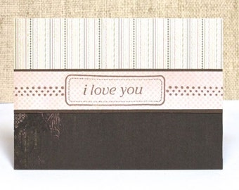 Love Card, Anniversary Card, I love You Card, Handmade Card, Clearance