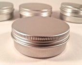 2oz (70ct) Cosmetic Empty Tins, Screw Top  (FREE SHIPPING) ETSY