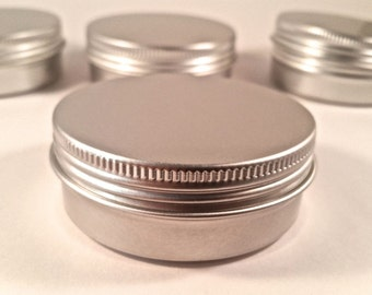 2oz (40ct)  Cosmetic Empty Tins, Screw Top (FREE SHIPPING) ETSY