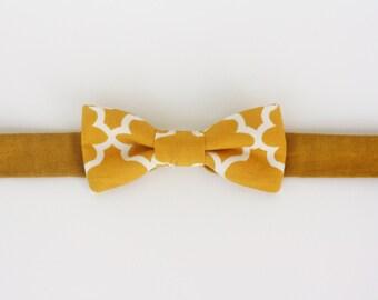 Yellow Gold Mustard boy's bowtie