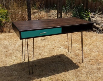 Mid Century Inspired Study Desk with Drawer - MADE TO ORDER
