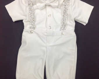 Boys christening outfit from wedding gown custom