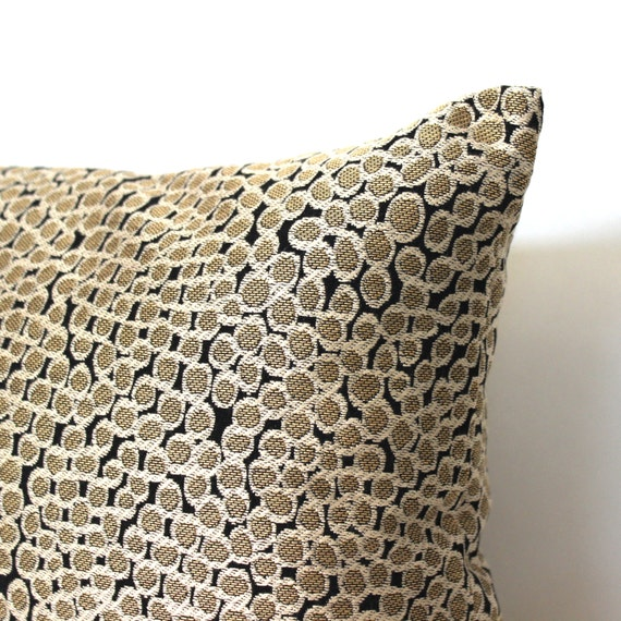 Black And Beige Throw Pillows : Decorative Black Beige Circles Accent Throw Pillow Floor