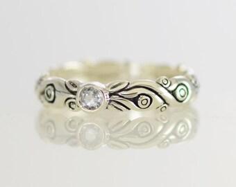 White Sapphire Enchantment Ring