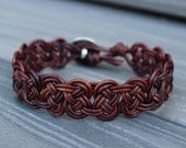 Leather Celtic Knot Bracelet  - Single Leather Wrap Bracelet