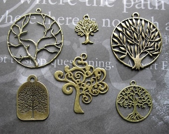 Tree Charm Collection in Bronze Tone - C2193