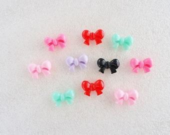 12pcs - Mini Cute Bows Decoden Cabochons (15x10mm) BW10013