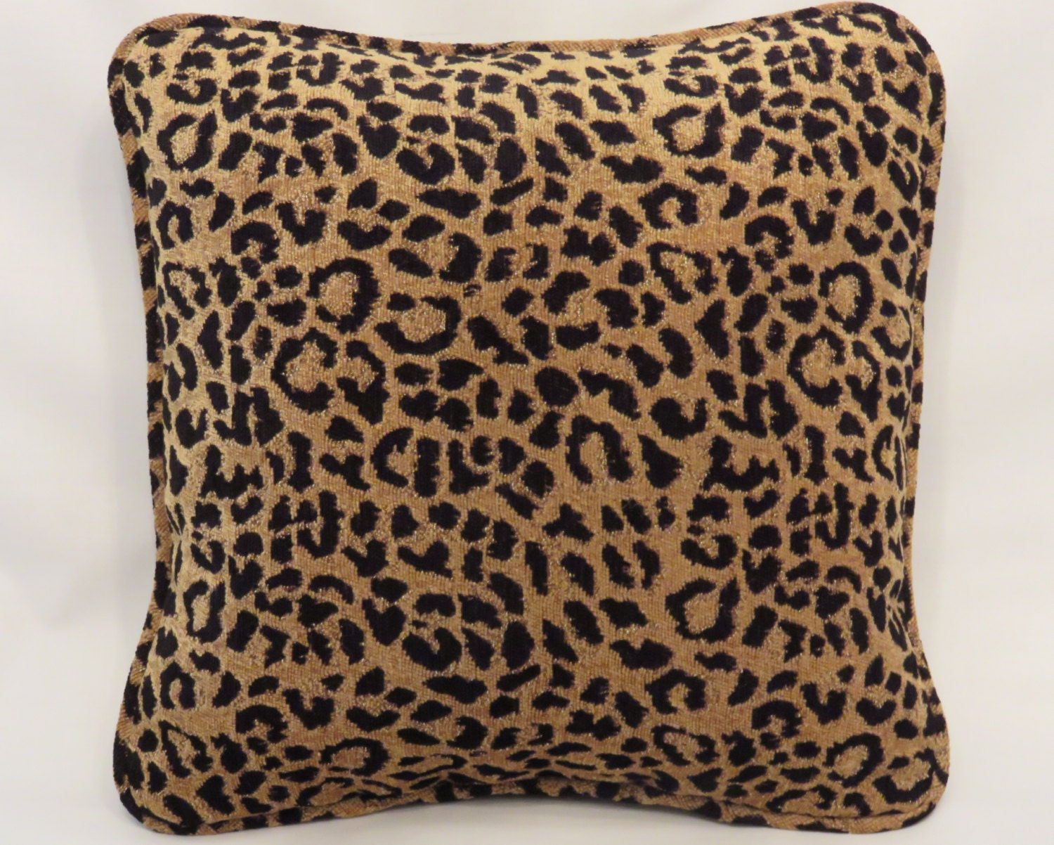Big Soft Throw Pillows : Leopard Chenille Throw Pillow 18 Square Big and Soft